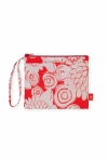 Zipper Purse Floral Mandarin